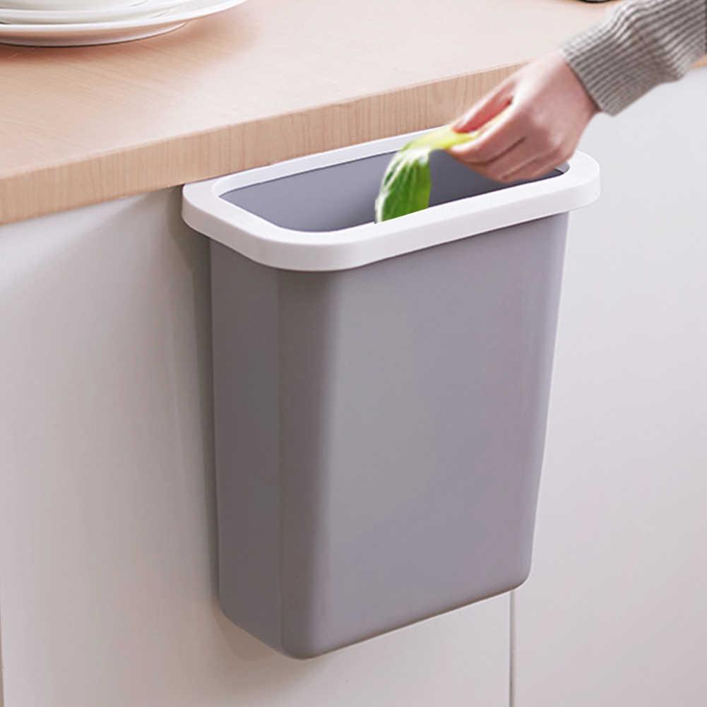 High Quality Material Kitchen Trash Bin Sundries Storage Box Closet Door  Hanging Trash Can Office Waste Bin Garbage Organizer