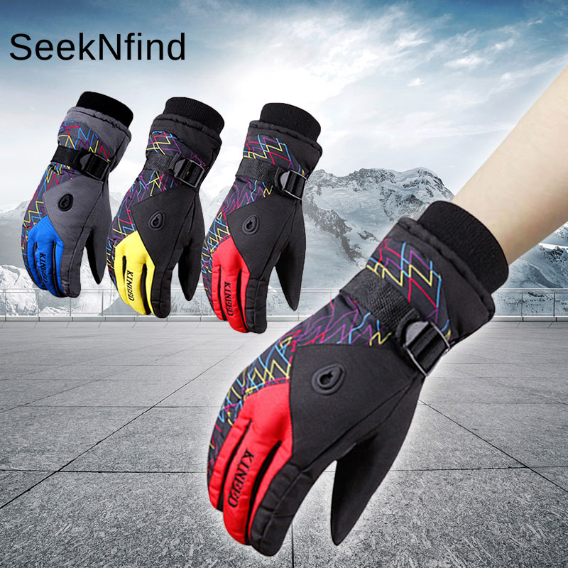 Winter Sports Warm Ski Gloves Waterproof Windproof Soft Heated Gloves for Playing Skiing Snowboard Cycling Motorcycle