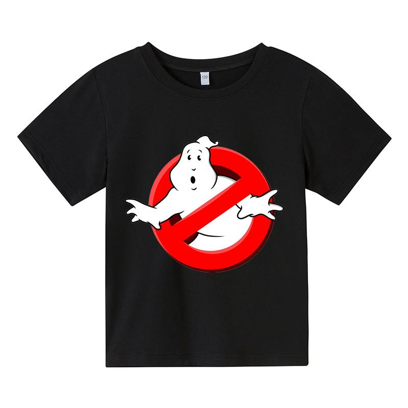 Boys Funny Ghostbusters Game cotton Print T Shirt Cartoon Short Sleeve Children T-Shirts Summer Kid Girl Tops baby Clothes 3-14Y