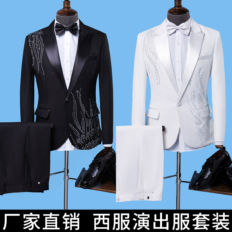 2019 men stage studio suit second marshal presided over the wedding the groom's best man of cultivate one's morality garments image