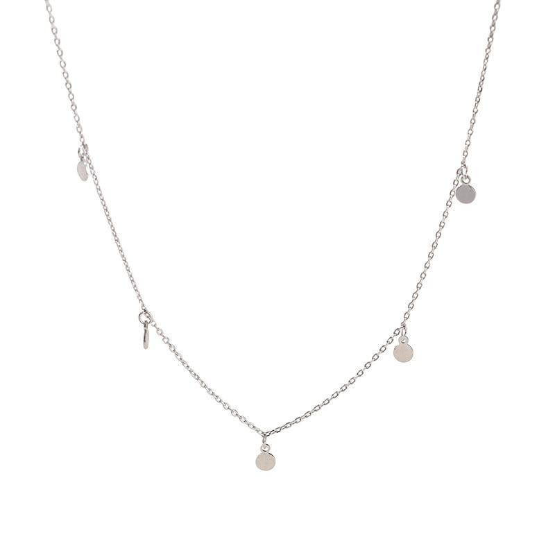 H47bfa3ad3b1d4f2d8a023d4cf2e12227l INZATT Real 925 Sterling Silver Geometric Round Choker Necklace For Fashion Women Minimalist Fine Jewelry Cute Accessories 2019