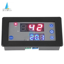 DC 12V Digital Time Delay Relay Dual LED Display Cycle Timer Control Switch Adjustable Timing Relay Time Delay Switch 10A 1500W