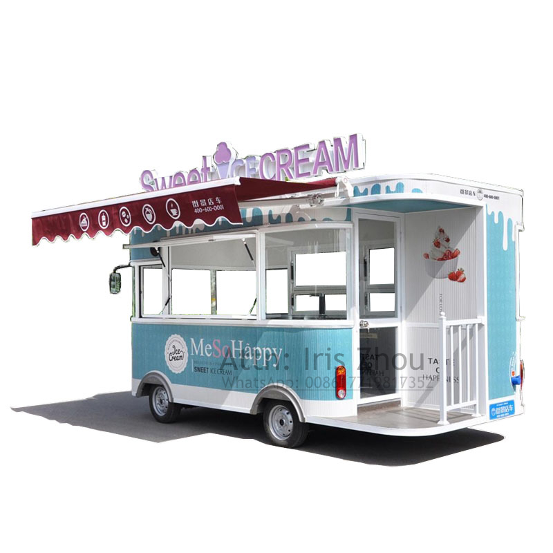 Factory Outlet Electric Food Truck Ice Cream Cart Mobile Food Cart, Ice Cream Food Vehicle
