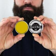 Высококачественный натуральный кондиционер для бороды маленького размера, бальзам для бороды для роста бороды и органический воск для усов, гладкий Стайлинг для бороды