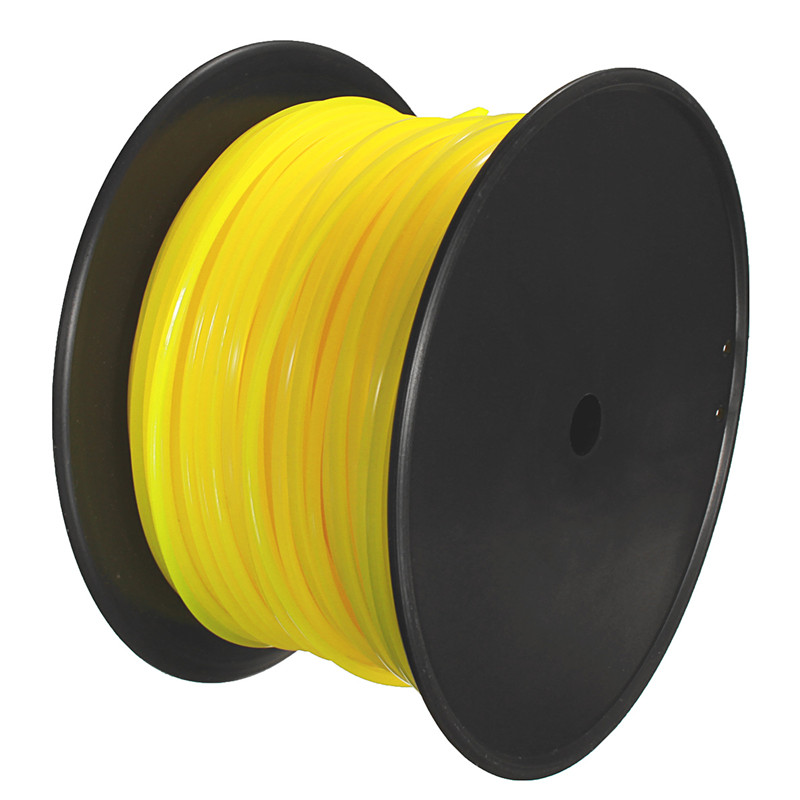 Tools : 100m 3mm Yellow Square Wire Cord Nylon for STIHL Strimmer Trimmer Head Mower Universal Strimmer Square Wire