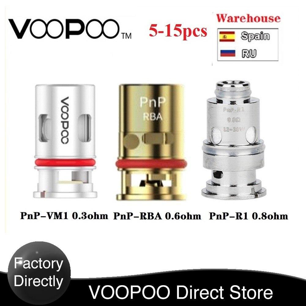 Original 5-15pcs VOOPOO PnP Coils 0.3ohm / 0.8 Ohm Mesh Coil / 0.6ohm RBA Coil For VOOPOO VINCI R / Vinci X / VINCI Mod Pod Kit
