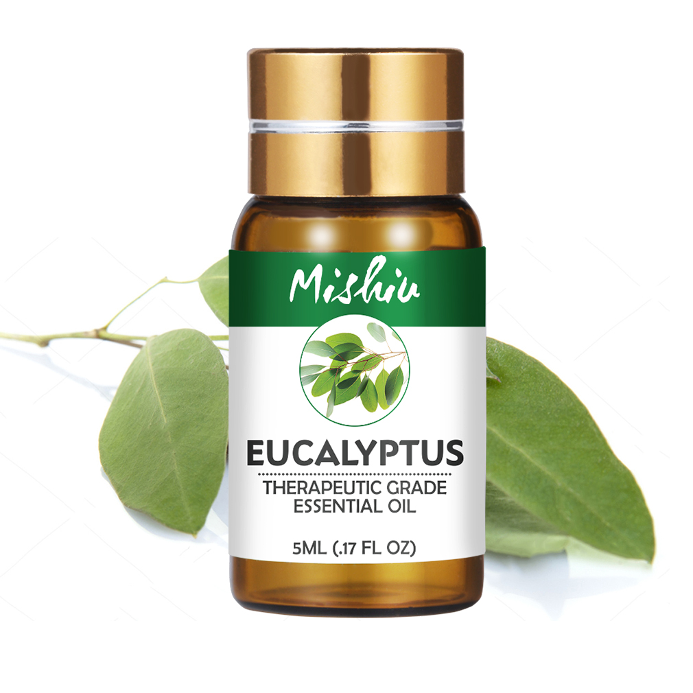 Mishiu Eucalyptus Essential Oil 100% Pure Aromatherapy Lemongrass Rosemary Lemon Grapefruit Cedarwood Cinnamon Essential Oil 5ML