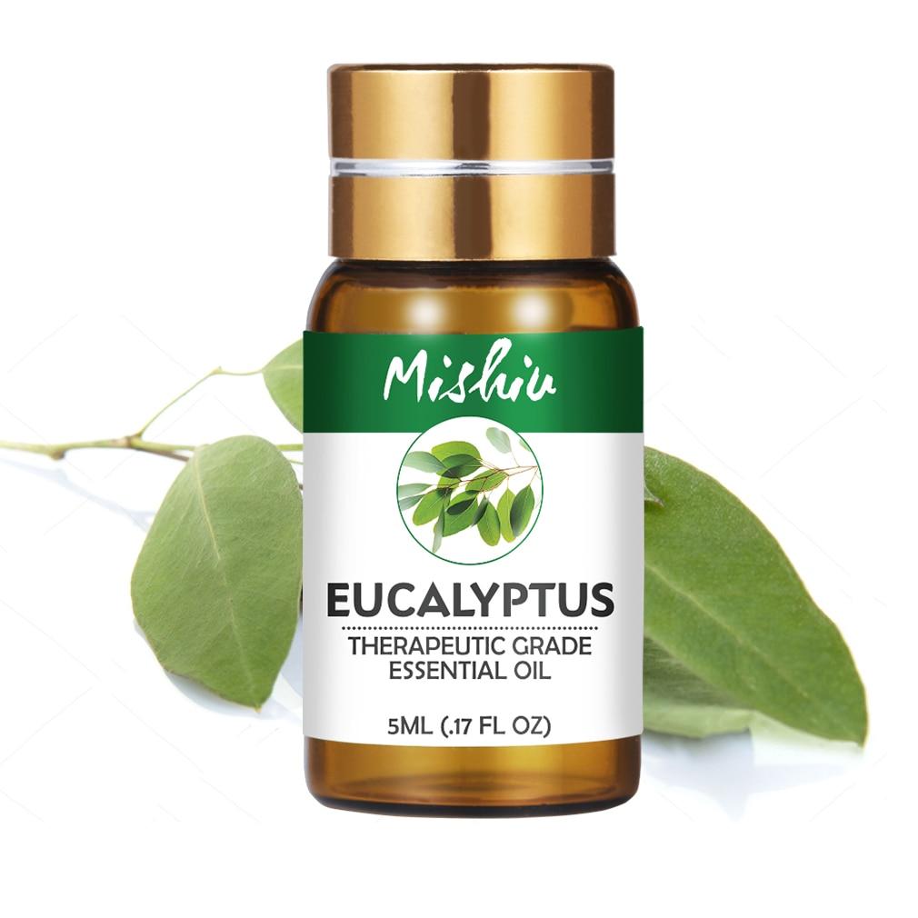 Mishiu Eucalyptus Essential Oil 100% Pure Aromatherapy Lemongrass Rosemary Lemon Grapefruit Cedarwood Cinnamon Essential Oil 5ML