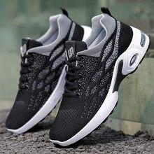 Venda quente verão respirável masculino sapatos casuais malha respirável preto dos homens sapatos moda mocassins tênis de pouco peso