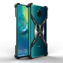 Alüminyum darbeye dayanıklı telefon kılıfı için Huawei P30 Pro Metal Noctilucent Batman manyetik çerçeve için Huawei Mate 20X telefon kabuk Coque