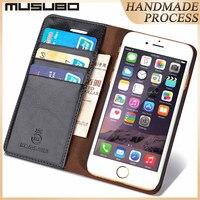 MUSUBO кожа Роскошный чехол для мобильного телефона для iPhone 5S iPhone 5 5S SE чехол на айфон 7 плюс с футляром для карт памяти чехлы на айфон 6 чехол айф...