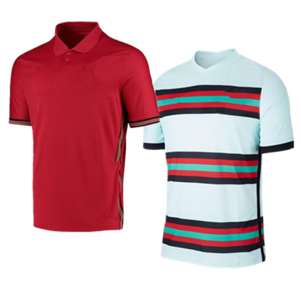 men 2021 2022 Portugal Home Away camisas de futebol jogging Tracksuit T Shirt