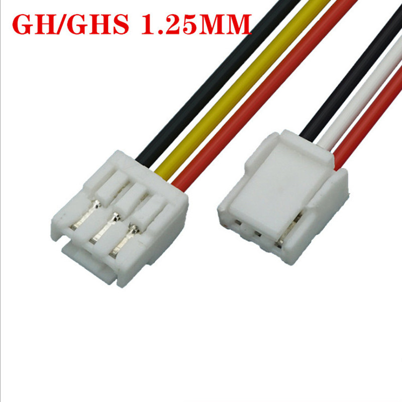 5 PCS 2P/3P/4P/5P/6 Pin JST GH Series 1.25 Female Double Connector With Wire 150MM 1007 28 AWG GH1.25 1.25MM