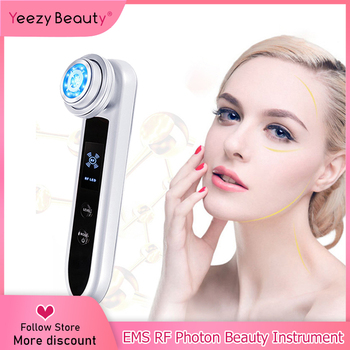 Cold & Hot EMS RF Face Skin Rejuvenation Portable Photon Radio Frequency Beauty Instrument Skin Care Equipment Facial Tools