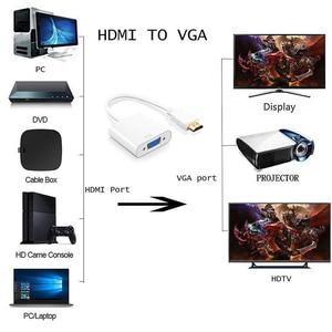 Image 5 - HDMI штекер VGA RGB Женский HDMI к VGA видео конвертер адаптер HDMI VGA кабель 1080P HD ТВ монитор для ноутбука ПК ТВ коробка проектор