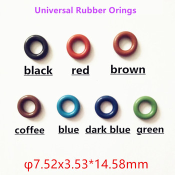 500pieces ASNU08C universal rubber orings 7.52*3.53*14.58mm for fuel injector repair kits For Audi (AY-O2012)