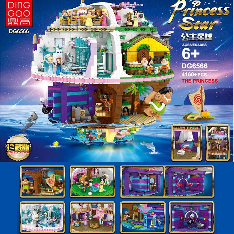 В наличии, платье принцессы со звездой несколько сцены DG6566 конструкторных блоков, Детские кубики, развивающие игрушки для детей, подарок на ...