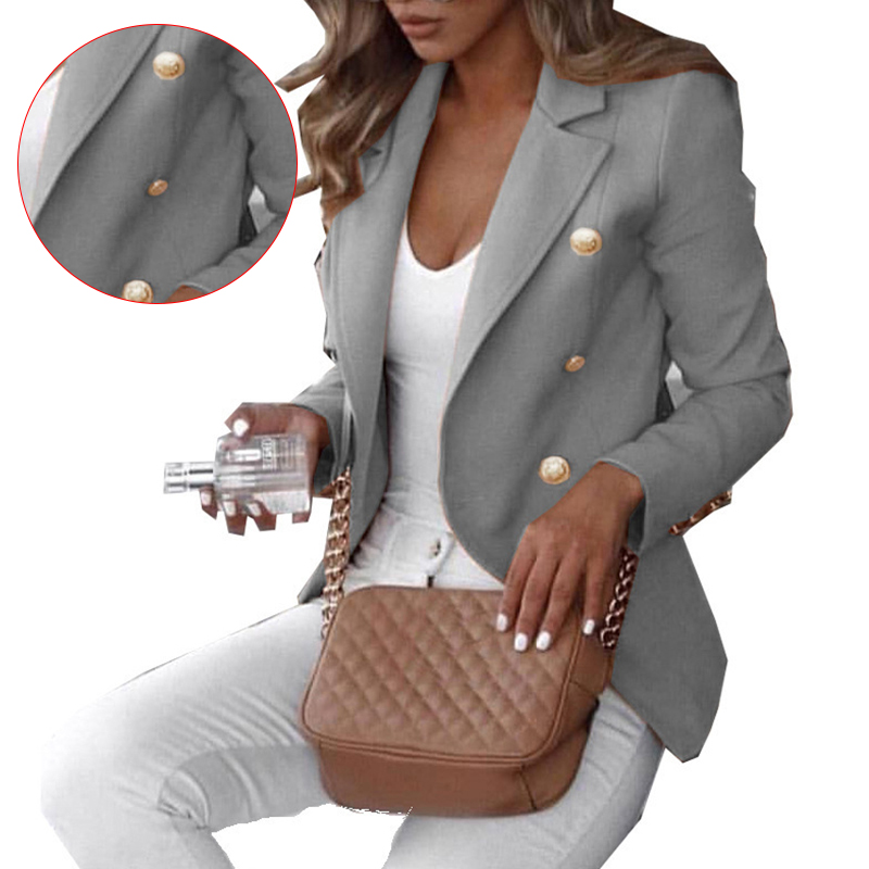 Lady Formal Suit Work Wear Solid Color Blazer Party Clothes Blazer Suit Coat Blazers Robe Femme
