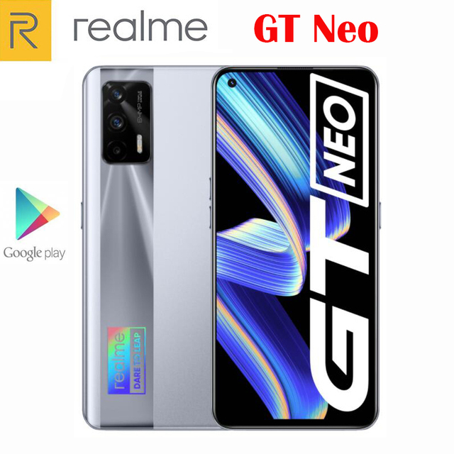 Original Official New Realme GT Neo 5G Smartphone MTK1200 6.43inch 120Hz Super AMOLED 64MP Camera NFC 4500Mah 50W Flash Charger 2