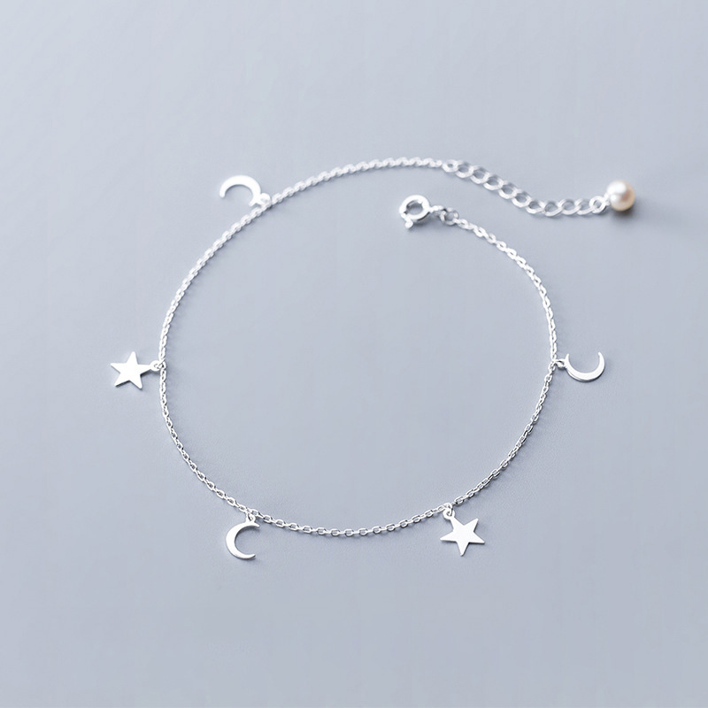 24.5cm Women Bohemian Silver Plated Small Balls Three Layer Chain Anklets