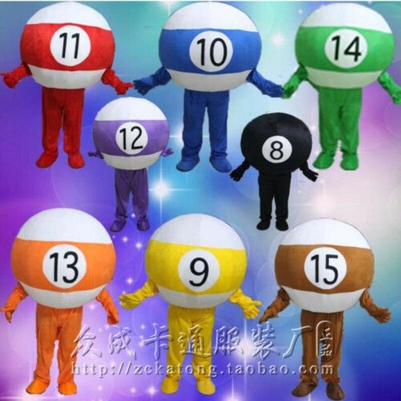 Adversaire billard balle mascotte Costumes Cosplay partie jeu robe tenue adultes anniversaire dessin animé personnage mascotte Costume cadeau