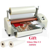(with two 310mm film)Four roller Laminating Machine Hot Rolling Mill Roller, cold laminator Rolling Machine film Laminator