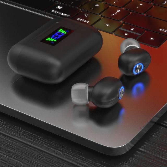 Bluetooth Wireless Headphones with Mic Sports Waterproof TWS Bluetooth Earphones key Control Wireless Headsets Earbuds Phone 5