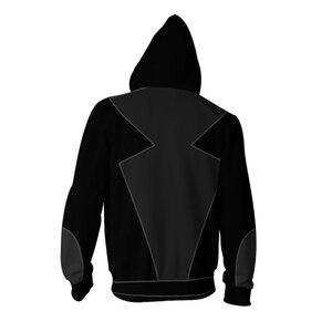Image 4 - Film Marienkäfer Katze Noir Cosplay Kostüme Marienkäfer Hoodies Polyester Jacken 3D Gedruckt Zipper Hoodie Sweatshirts Sportswear