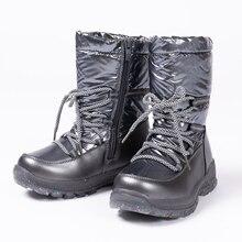 Nova chegada 2019 bling sapatos de inverno para meninas de pelúcia da criança menino botas crianças mantendo quente botas de neve do bebê sapatos a622