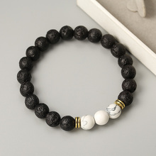 Distance Bracelet Classic Black Acrylic Stone White and Yin Yang Beaded Bracelets For Men Women Best Friend Hot