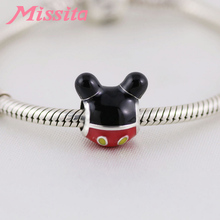 MISSITA Cute Mickey Charms fit Brand Bracelets & Necklaces for Jewelry Making Ladies Accessories