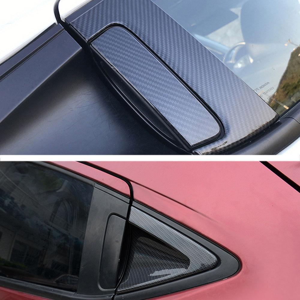 Carbon Cover Fiber For 14-17 Honda Vezel HR-V HRV Trim Exterior Decor Replacement Accessories