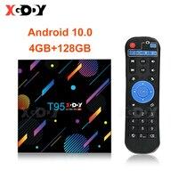 XGODY-reproductor multimedia T95 H616 Dispositivo de TV inteligente, dispositivo con Android 10,0, 4G, 32GB, 64GB, 128G, 6K, HD, bluetooth, 2,4G y 5G