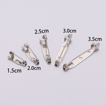 Base Pins Safety Pins Brooch Settings Blank Base For DIY Jewelry Making Supplies 1