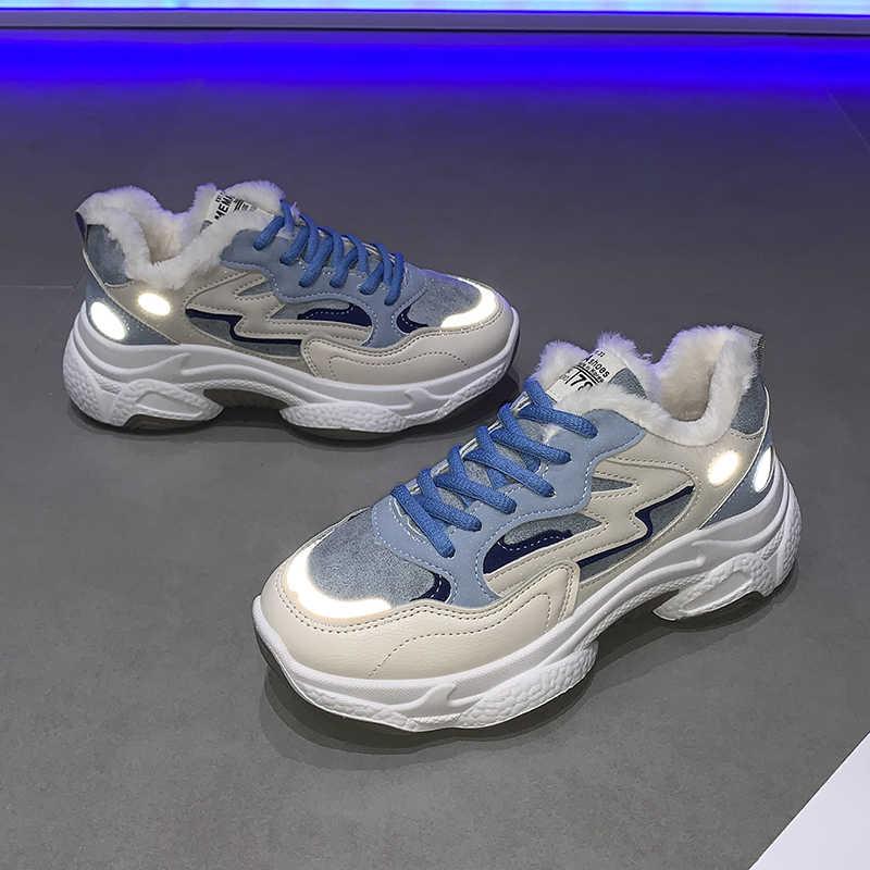 FUJIN/ботинки; женские высокие кроссовки; женская повседневная обувь; зимние женские ботинки на шнуровке; удобная женская обувь; зимние ботинки