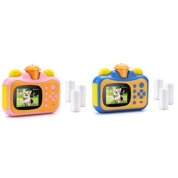Przenośny aparat błyskawiczny aparat zabawka aparat z papier do druku cyfrowy kreatywny nadruk aparat urodziny prezent dla dzieci tanie i dobre opinie Orsda 5 0MP CMOS 1 2 7 cali 2x-7x Full hd (1920x1080) Kids Digital Camera Camcorder Wodoodporna odporny na wstrząsy