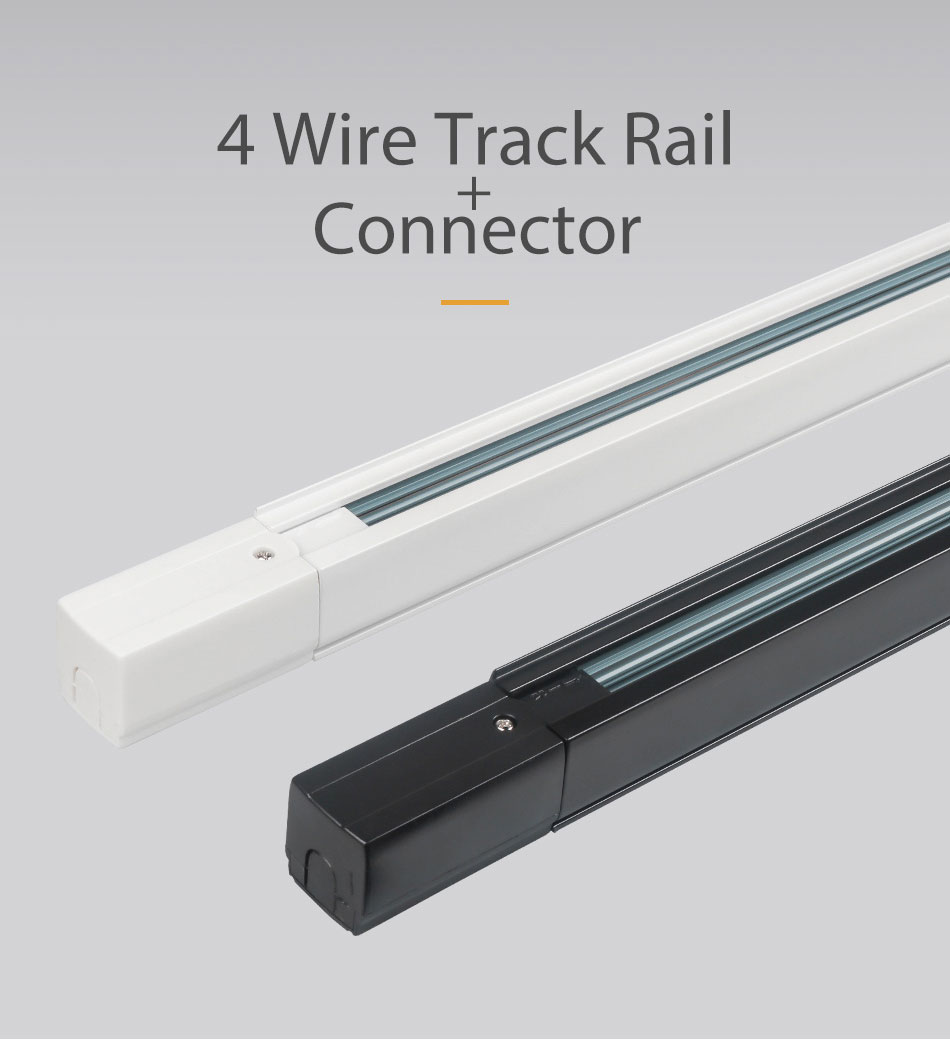 GO OCEAN Track Lighting Track Rail 1m 3 Phase 4 Wire Circuit light raill Global System led track spotlight rail 10pcslot (16)