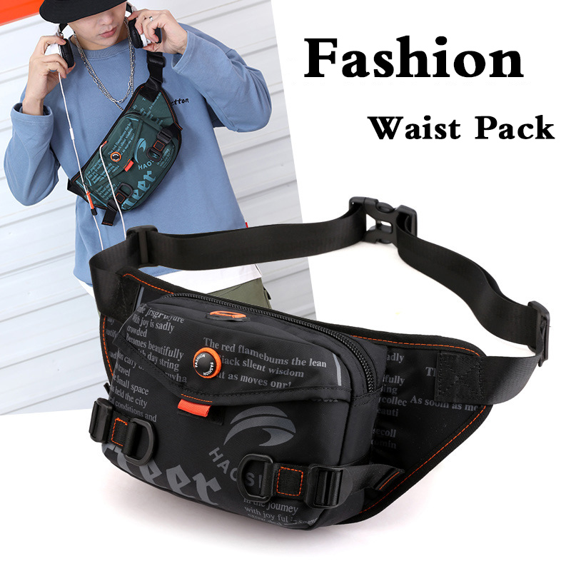 High Quality Nylon Waterproof Waist Bags For Men Fashion Oxford Fanny Pack Male Bum Hip Belt Pouch Travel Cross Body Chest Bags