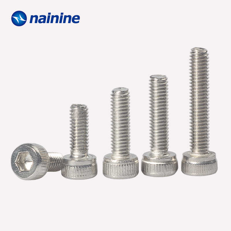 20/50Pcs DIN912 M1.4 M1.6 M2 M2.5 M3 M4 M5 M6 304 Stainless Steel Hexagon Socket Head Cap Screws Bicycle Hex Bolts HW003