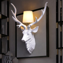 Vintage Home Decor Kitchen Wall Lamp Nordic Ancient Loft Resin Colorful Deer Wall Light Home Wall Art Wall Sconce Light Fixture
