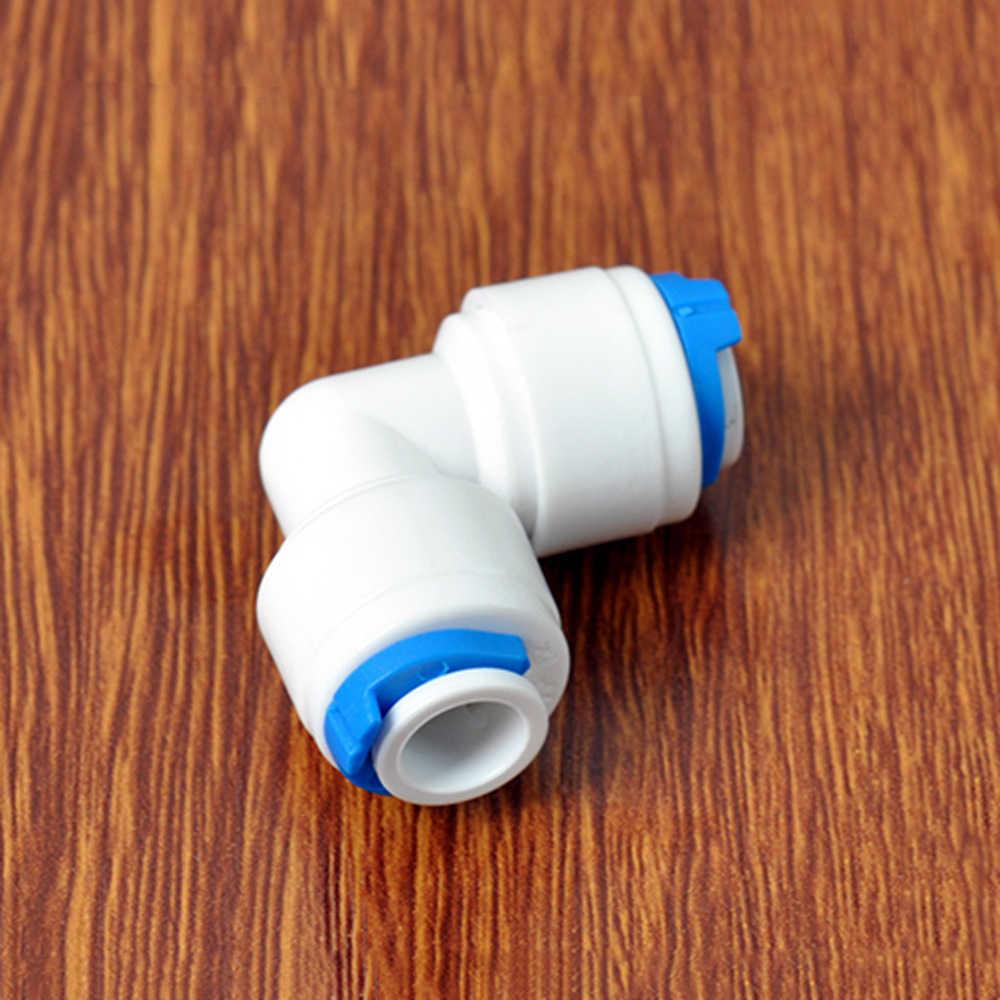 """1/4 """"6.35mm OD 튜브 90도 엘보 POM 퀵 피팅 커넥터 수족관 RO 정수기 역삼 투 시스템"""