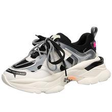 Tênis chunky feminino 2020 nova moda sapatos casuais design da marca sapatos de inverno meninas na moda casais tênis plus size 42 43 44