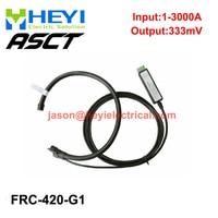 China manufacturer Input 3000A FRC 420 G1 flexible rogowski coil with G1 integrator output 333mV split core current transformer