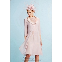 Light pink Mother of the bride dress wit