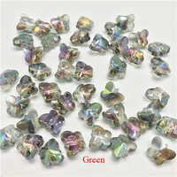 100 pz/lotto Piccolo Cristallo Variopinto Della Farfalla Perline Perle di Vetro per Monili Che Fanno Perline Farfalla per Monili Fai Da Te