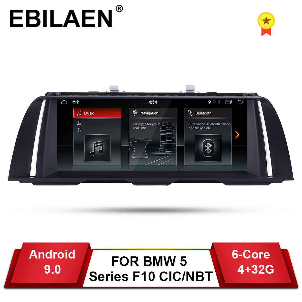 EBILAEN android 9.0 Car DVD GPS Player For <font><b>BMW</b></font> 5 Series F10 F11 (2011-2016) CIC/NBT Auto Radio Multimedia Navigation 520i Stereo image
