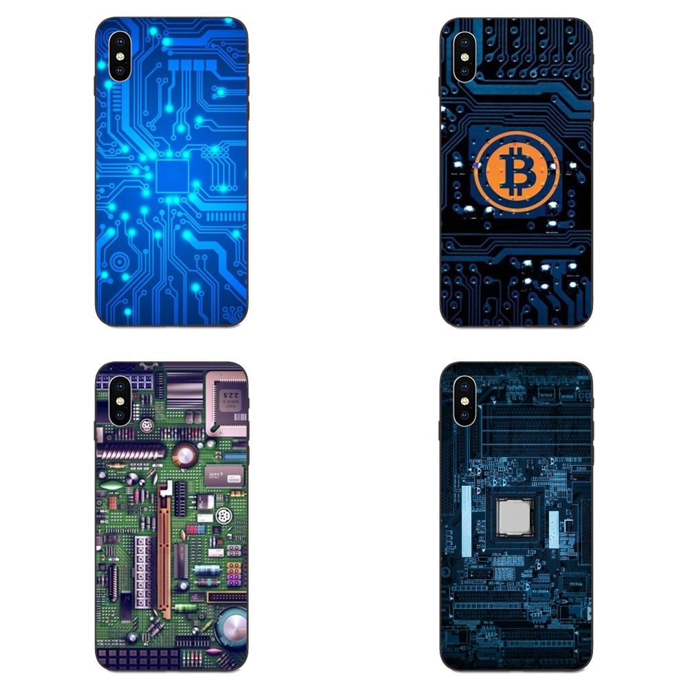 Technology Circuit <font><b>Motherboard</b></font> Soft Capa Case For <font><b>Samsung</b></font> <font><b>Galaxy</b></font> <font><b>Note</b></font> 4 <font><b>8</b></font> 9 G313 S3 S4 S5 S6 S7 S8 S9 S10 Edge Plus Lite I9080 image