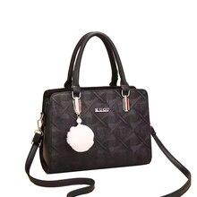 Pom-pom Handbag Fashion Retro Designer Handbag Quality Top 2019 Autumn and Winter New Single Shoulder Messenger Bag Woman Bag pom pom decor plaid shoulder bag