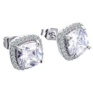 Реальные 925 серебро, созданные серьги-гвоздики с муассанитом серьги классический естественный белый сапфировые серьги для женщин Свадебны...