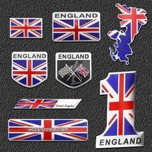 England Car Flag Stickers United Kindom Emblem Badge Decal For KIA BMW Audi Ford Jaguar Land Rover Mini Cooper car accessories